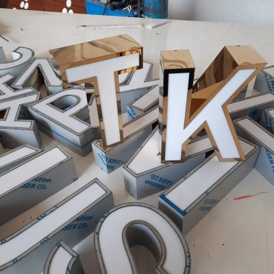 paslanmaz kutu harf tabela fileli paslanmaz